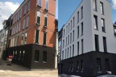 Appartementsgebouw afgewerkt met ETICS-systeem