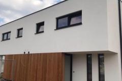Gevelbepleistering nieuwbouw woning